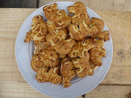 Cookies, Brown, Food, Tasty, Plate, Baking