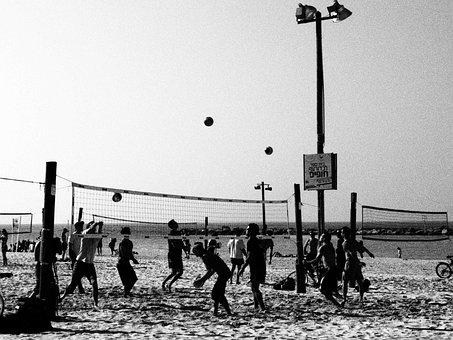 Volleyball, Beach Volley, Beach, Volley, Sport, Game