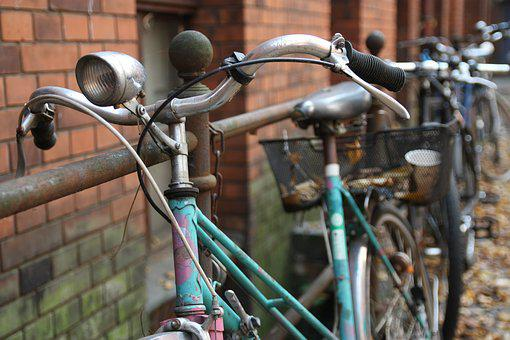 Old, Bicycle, Vintage, Building, Berlin, Bike, Retro