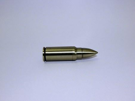 Bullet, Ammo, Ammunition, Shell, Brass, Lead, Copper
