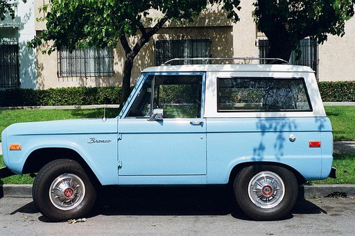 Jeep, Car, Blue, Vintage, Oldtimer, Vehicle
