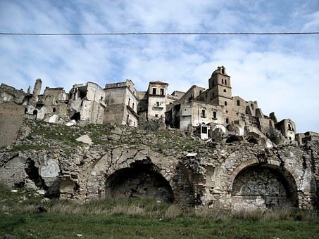 Craco, Italy, Homeless, Lost, Earthquake