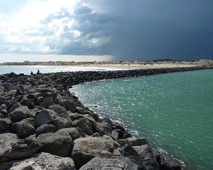 Cape Of Agde, Dam, Stormy