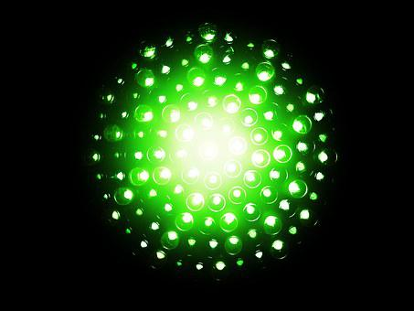 Neon, Green, Electrical, Bulb, Energy, Bright, Led
