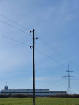 Current, Strommast, Power Line, Energy, Electricity