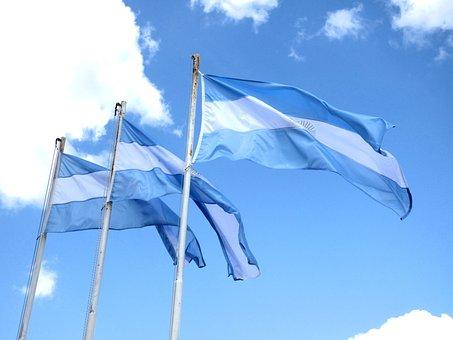 Flag, Argentina, National Flag, Mast