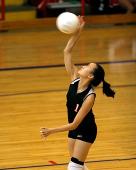 Volleyball, Player, Action, Girl, Volley, Hit, Athlete