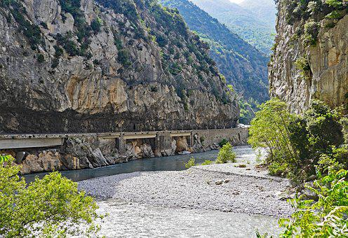 Maritime Alps, Gorge, Le Var, South Of France