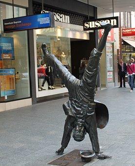 Sculpture, Perth, West Australia, Human, Handstand