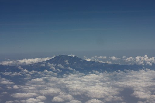 Kilimanjaro, Tanzania, Mountain, Sky, Clouds, Landscape