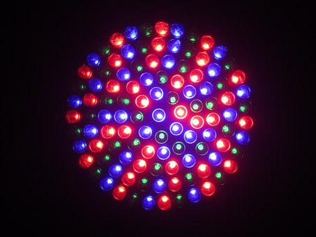 Led, Light, Dj, Blue, Red