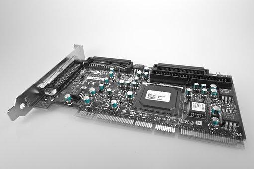 Network Card, Map, Pci, Riser Board, Chip, Board, Line