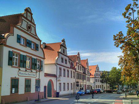 Darmstadt, Hesse, Germany, Old Suburban, Old Building