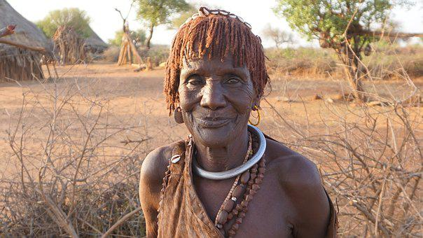 Hamer, Race, Woman, Old Woman, Ethiopia, Omo Valley