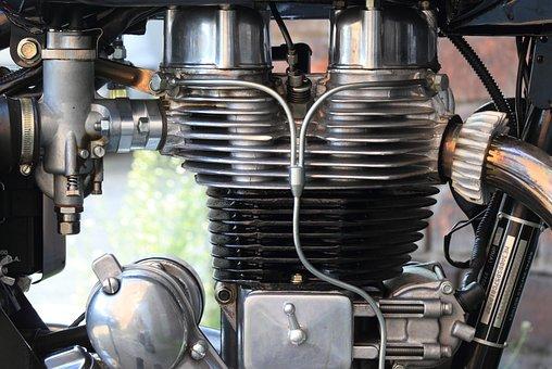 Motor, Motorcycle, Engine, Royal, Single, Indian