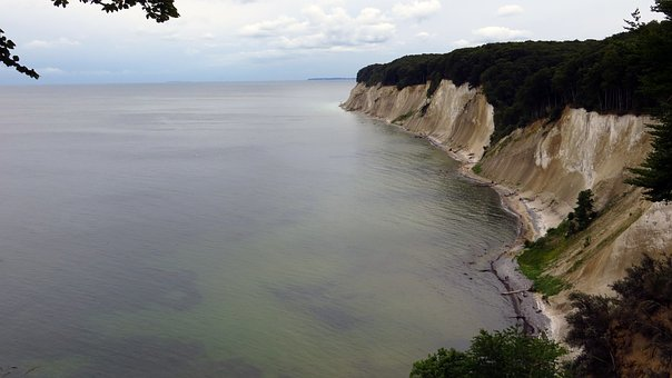 High Shore Trail, View, White Cliffs, Rügen, Sassnitz