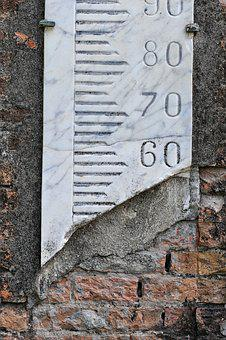 Hydrometer, Numbers, Stone, Wall, Metro, Texture