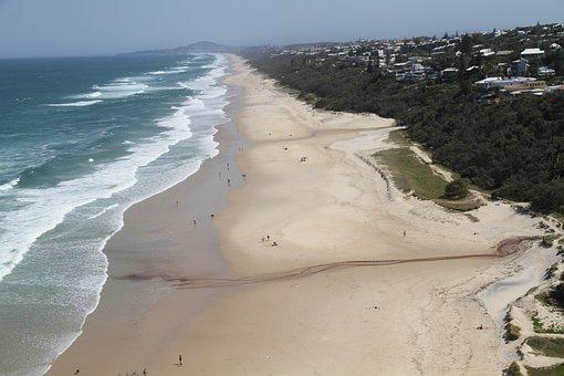 Ocean, Beach, Wave, Surfer's Paradise, Surfer, Nature