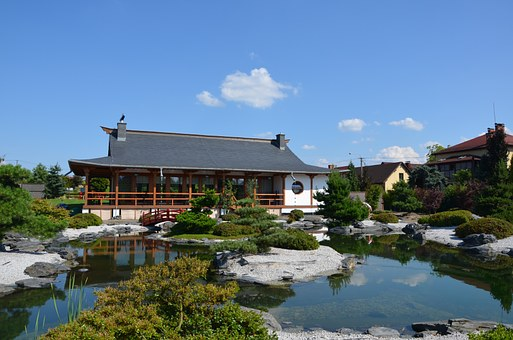 Japanese Garden, Pagoda, Tea Pavilion, Tearoom, Lake