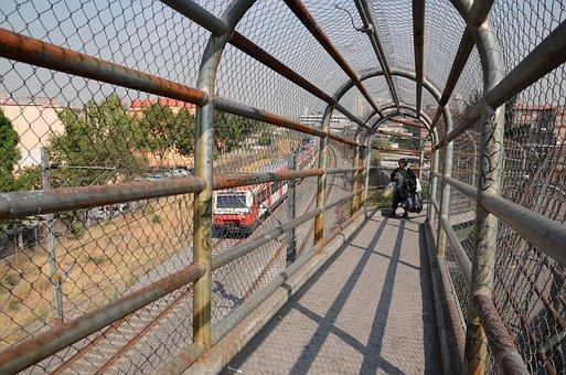 Bridge, Suburban, Train, Tlatelolco