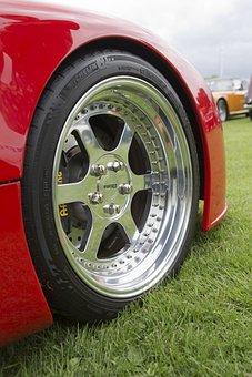 Ultima Gtr Sports Car, Hand Built, Front Wheel Detail