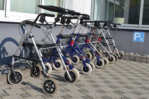 Rollator, Seniors, Disabled Parking Space, Walking Aids