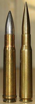 Bullets, Cartridge, Ammunition, Weapon, Metal, Military