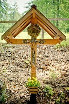 Corridor Cross, Crucifix, Wayside Cross, Wood, Jesus