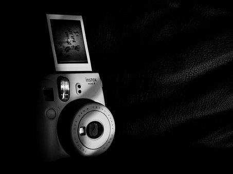 Instant Camera, Photo, Instax, Monochrome