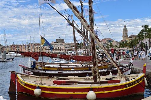 Boats, Mast, Port, Town, Sea, Sailing Boats, Sailboats