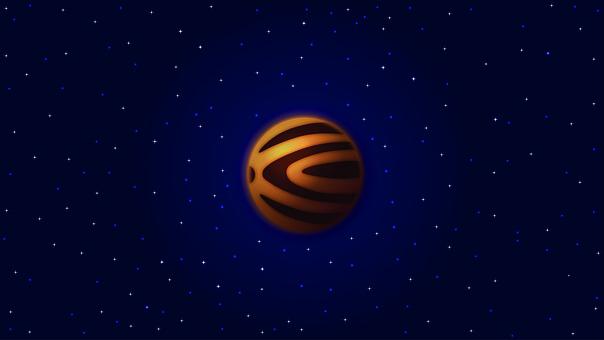 Planets, Stars, Universe, Cosmos, Banner, Design, Art