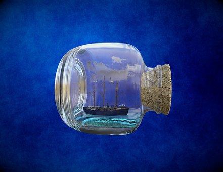 Ship, Boat, Bottle, Sailing, Sailboat, Sail, Nautical