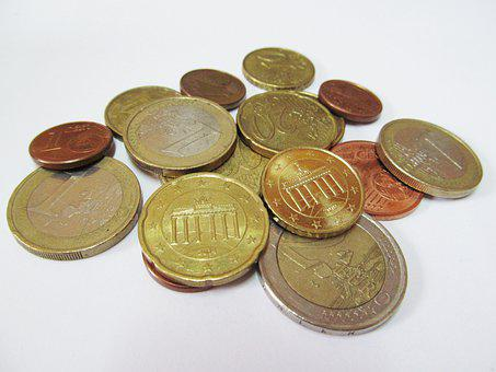 Euro Coins, Coins, Specie, Cash, Currency, Money, Euro