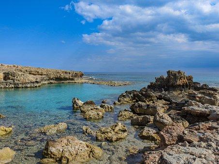 Sea, Rocks, Cliff, Ayia Napa, Cyprus, Ocean, Coast