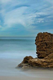 Sea, Coast, Rock, Beach, Ocean, Seashore