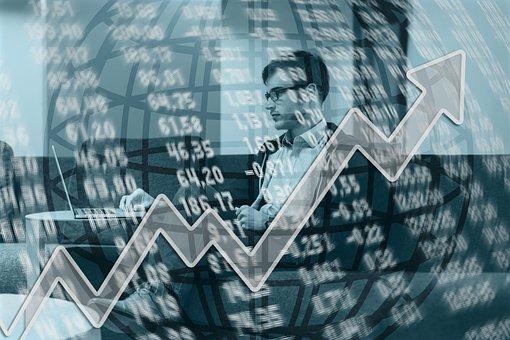 Arrow, Growth, Businessman, Up, Upward