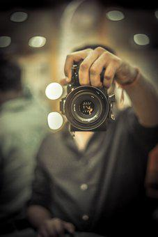 Mirror Selfie, Camera, Man, Photographer, Equipment