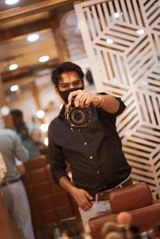 Photographer, Man, Camera, Equipment, Professional