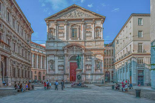 Square, Building, Architecture, Italy, Milan, City