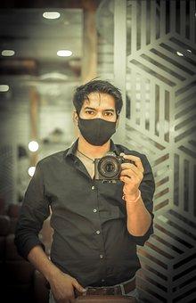 Mirror, Selfie, Photographer, Camera, Man, Digital
