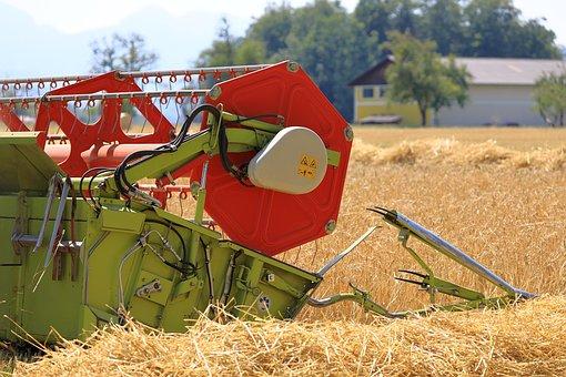 Combine Harvester, Harvest, Agriculture, Agricultural