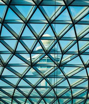 Architecture, Airport, Changi, Building, Interior, Asia