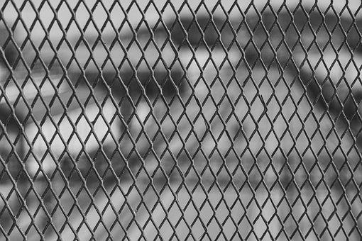Wire, Bars, Blur, Fence, Monochrome