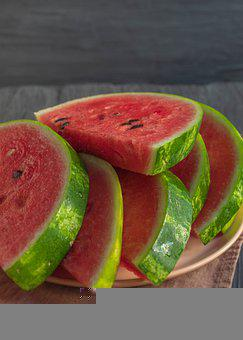 Watermelons, Fruits, Food, Slices, Watermelon Seeds