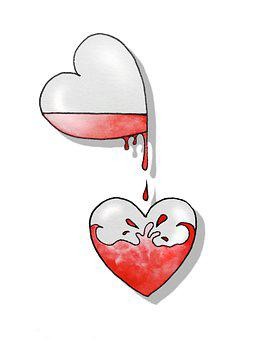Sketch, Figure, Hearts, Graphics, Love, Feelings