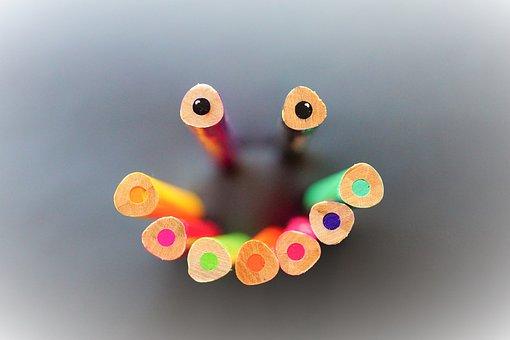 Colour Pencils, Pens, Color, Draw, Kindergarten