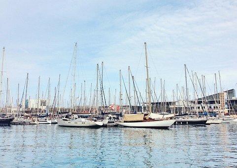 Boats, Port, Sea, Sailboats, Sailing Boats, Harbor, Bay
