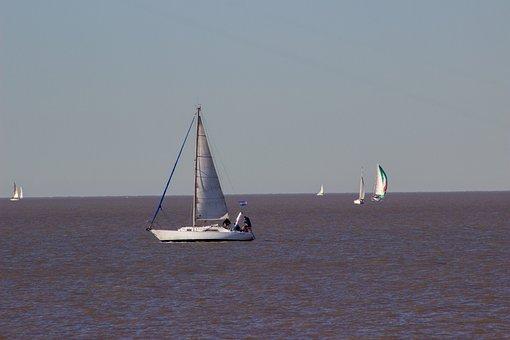 Boats, Sailing, River, Sailboats, Sailing Boats, Sea