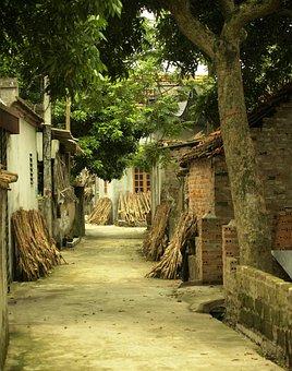 Old Village, Street, Rural, Houses, Old Buildings