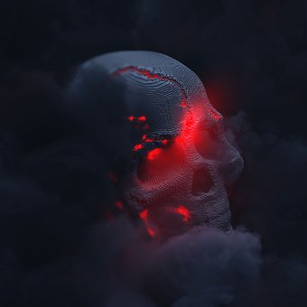 Skull, Death, Evil, Gothic, Fog, Smoke